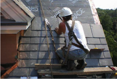 Custom Slate Roof Installation