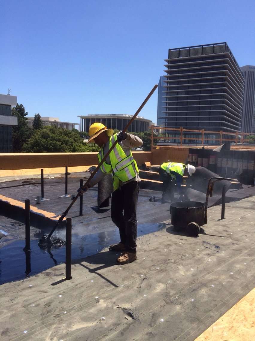 HOA BUR roof install
