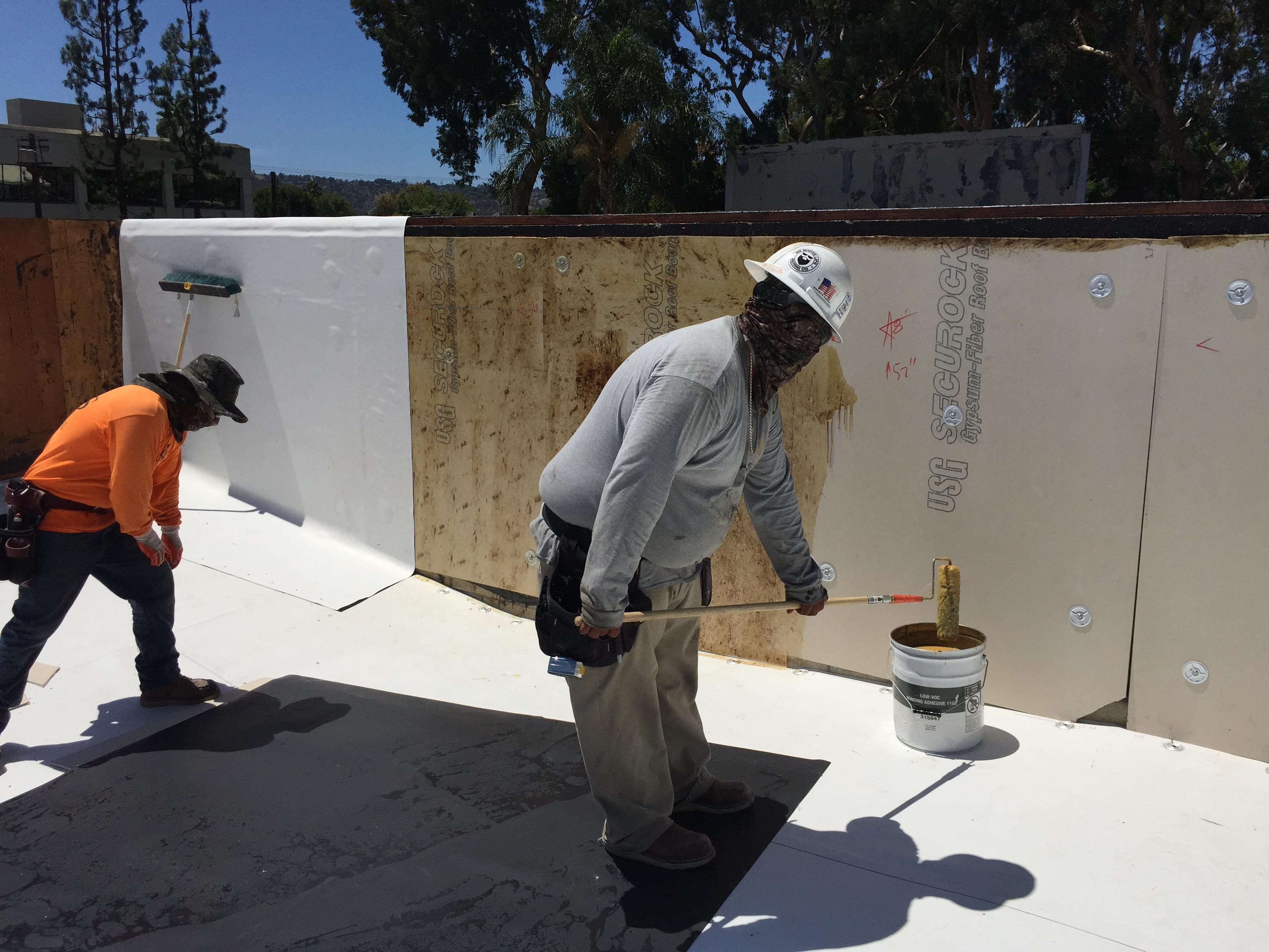 HOA single ply roof install